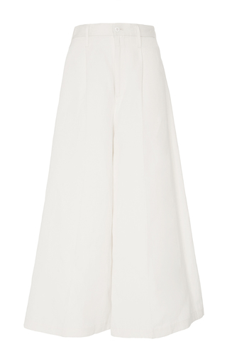 Ivory Wide Leg Culottes by CO for Preorder on Moda Operandi