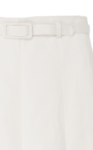 Ivory Pleated Skirt With Belt by CO for Preorder on Moda Operandi