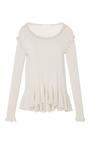 Ruffled Peplum Fine Knit Top by CO for Preorder on Moda Operandi