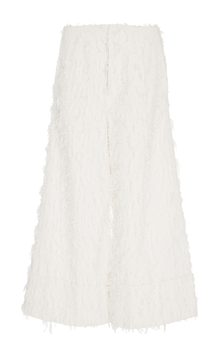 Medium co white tassel cotton culottes