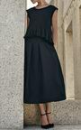 Pleated High Waist Midi Skirt by CO for Preorder on Moda Operandi