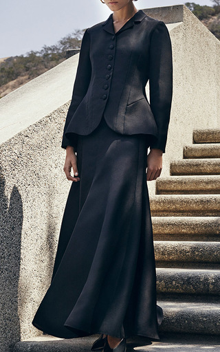 Black Pleated Skirt With Belt by CO for Preorder on Moda Operandi