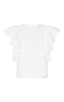 Ruffled Flutter Sleeve Top by CO for Preorder on Moda Operandi