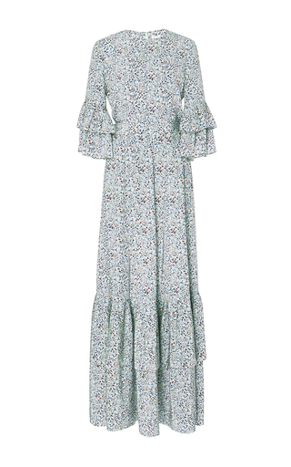 Printed Maxi Dress With Tiered Hem by CO for Preorder on Moda Operandi