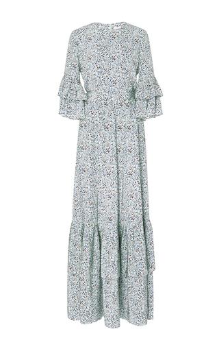 Medium co print printed maxi dress with tiered hem
