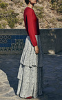 Printed Tiered Maxi Skirt by CO for Preorder on Moda Operandi