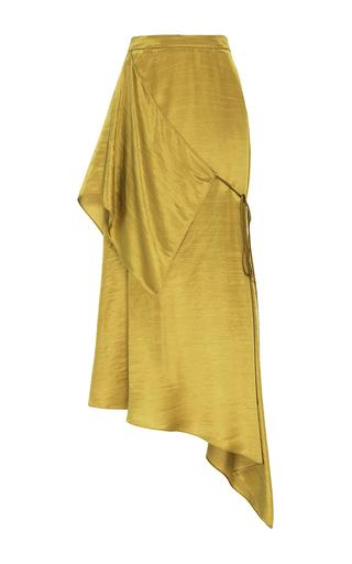 Medium hellessy gold siena gold asymmetric wrap skirt