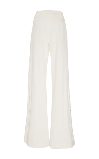 Sardo Ecru Wide Leg Pants by HELLESSY for Preorder on Moda Operandi