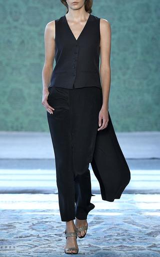 Cefalu Black Cigarette Skirt Pants by HELLESSY for Preorder on Moda Operandi