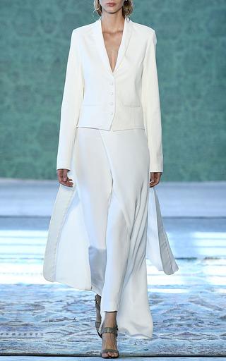Cefalu Ecru Cigarette Skirt Pants by HELLESSY for Preorder on Moda Operandi