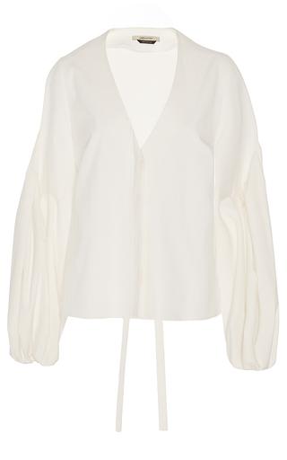 Medium hellessy white ravello ecru v neck blouse