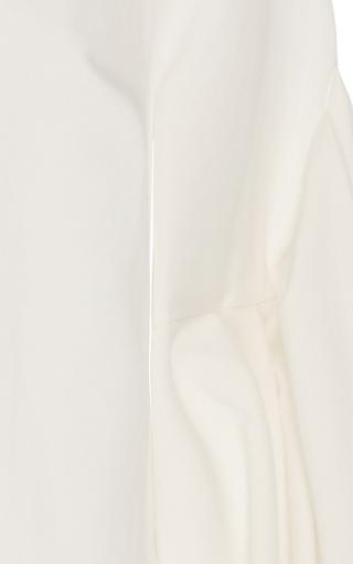 Ravello Ecru V Neck Blouse by HELLESSY for Preorder on Moda Operandi