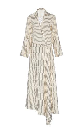Medium hellessy tan messina sand asymmetric shirt dress