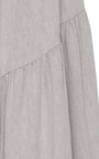 Amalfi Grey Tiered Maxi Skirt by HELLESSY for Preorder on Moda Operandi