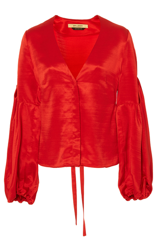 Ravello Poppy V Neck Blouse by HELLESSY for Preorder on Moda Operandi