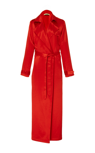 Akim Back Twist Detail Trench by HELLESSY for Preorder on Moda Operandi