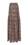 Amalfi Tiered Maxi Skirt by HELLESSY for Preorder on Moda Operandi