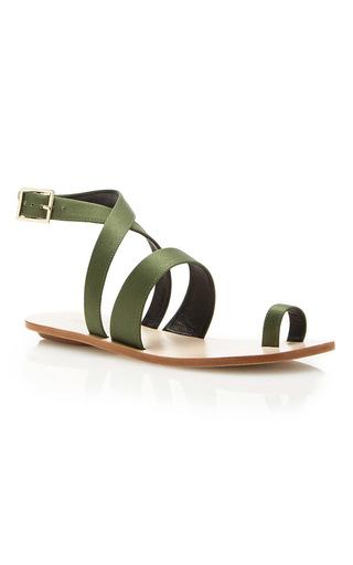 Medium tibi olive hallie sandals