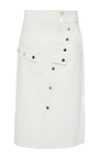 Snap Pencil Skirt by TIBI for Preorder on Moda Operandi