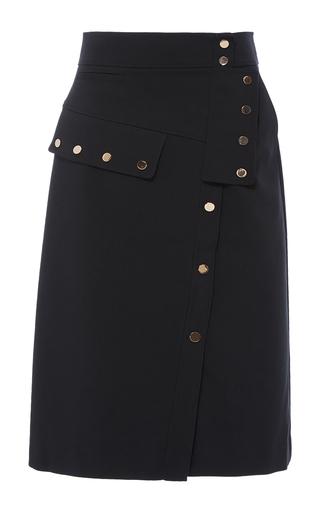 Medium tibi black snap pencil skirt