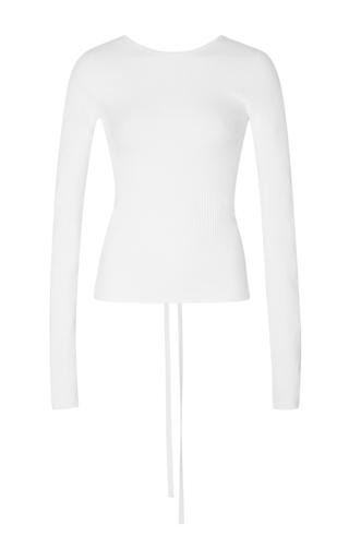Medium tibi white white scooped back pullover