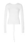 White Scooped Back Pullover by TIBI for Preorder on Moda Operandi