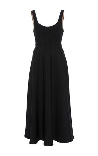 Medium tibi black corset structured dress