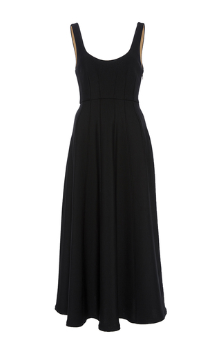 Medium tibi black corset structured dress