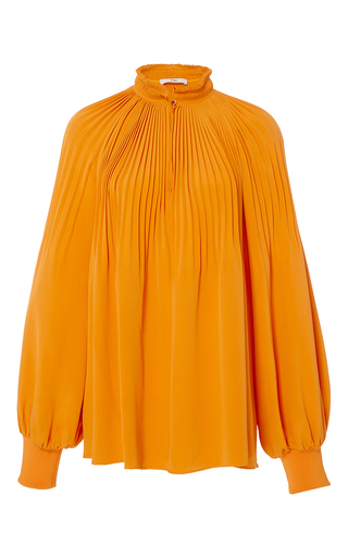 Medium tibi orange edwardian tunic top