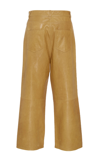 Cropped Leather Jeans by TIBI for Preorder on Moda Operandi