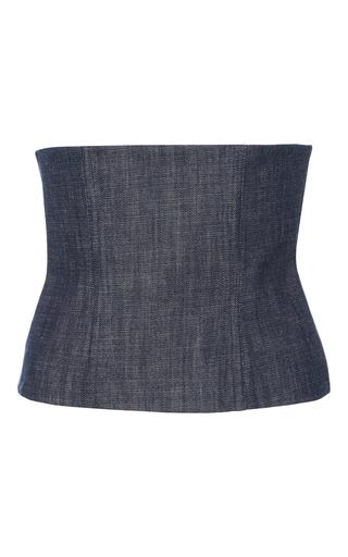 Medium tibi blue denim corset