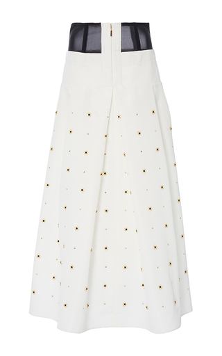 Medium tibi white charlotte beaded full skirt