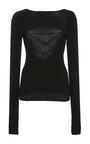 Black Scooped Back Pullover by TIBI for Preorder on Moda Operandi