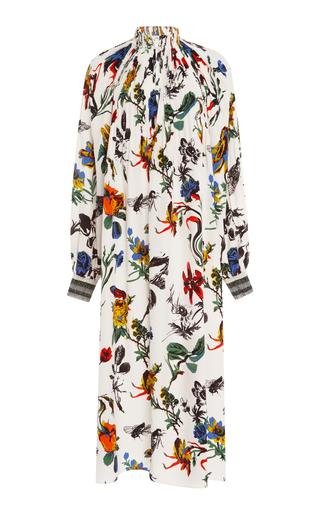 Medium tibi floral edwardian ivory printed midi dress