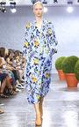Edwardian Blue Printed Midi Dress by TIBI for Preorder on Moda Operandi