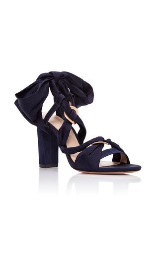 Medium alexandre birman navy alessa wrap sandal