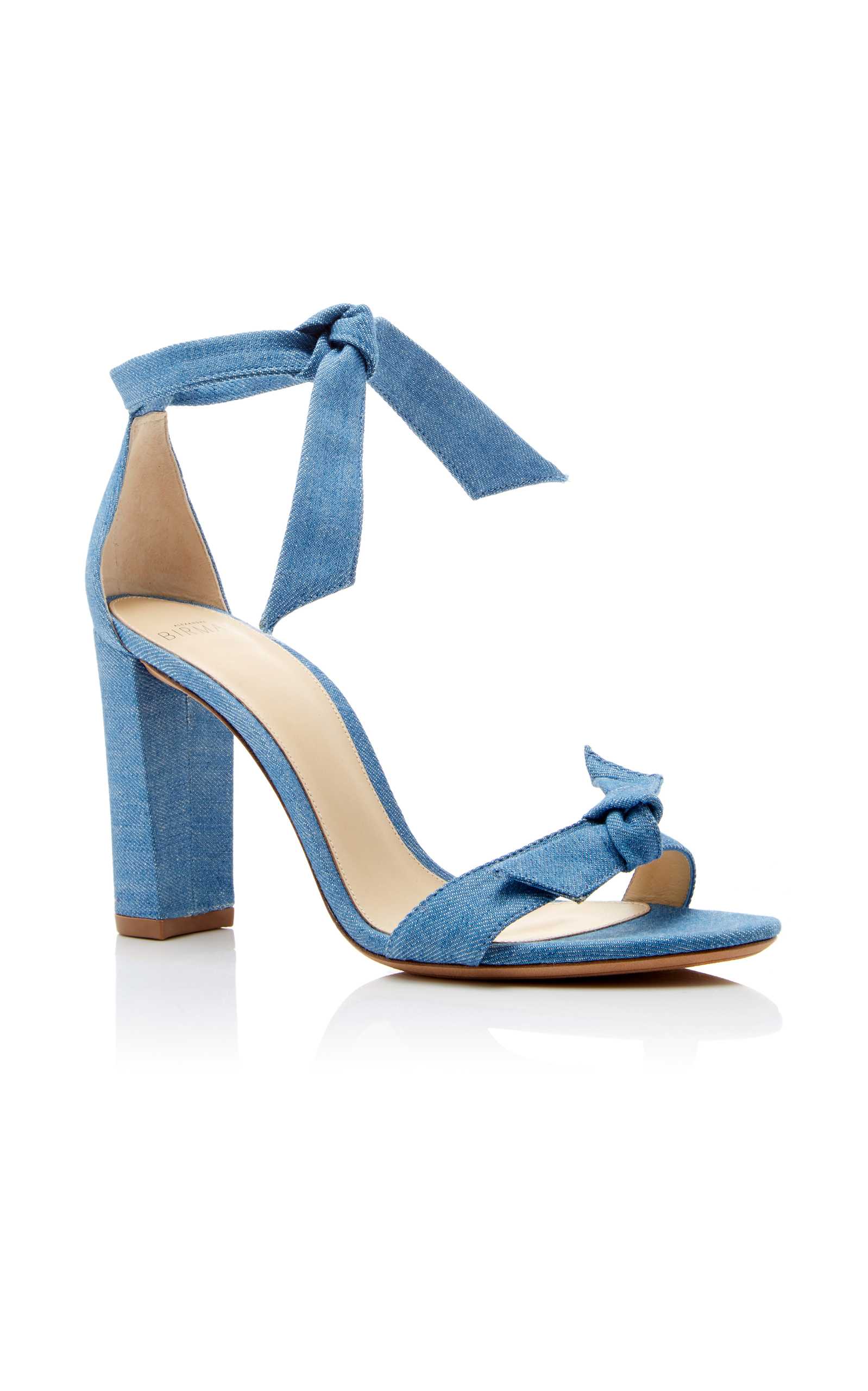 Alexandre Birman bow denim sandals outlet locations cheap online I68qE