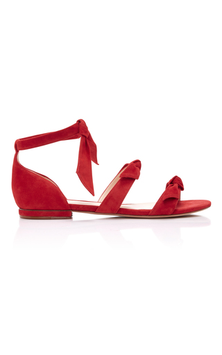 Medium alexandre birman red gianna flat sandal