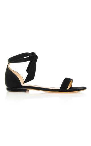 Medium alexandre birman black clarita bow embellished sandals
