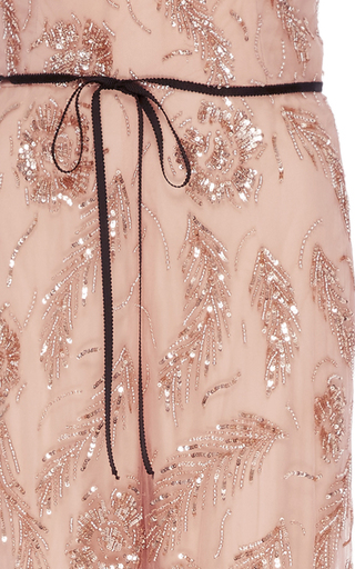 Floral Embroidered Jumpsuit by MONIQUE LHUILLIER for Preorder on Moda Operandi