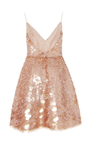 Embroidered Degrade Pailletté Cocktail Dress by MONIQUE LHUILLIER for Preorder on Moda Operandi