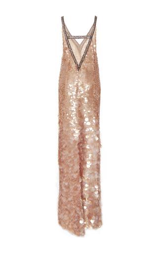 Embroidered Degrade Pailletté Slip Gown by MONIQUE LHUILLIER for Preorder on Moda Operandi