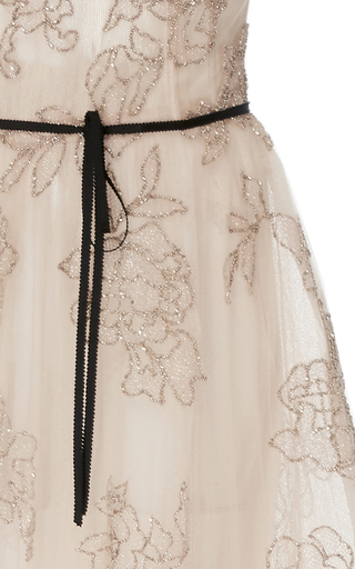 Floral Embroidered Midi Gown by MONIQUE LHUILLIER for Preorder on Moda Operandi