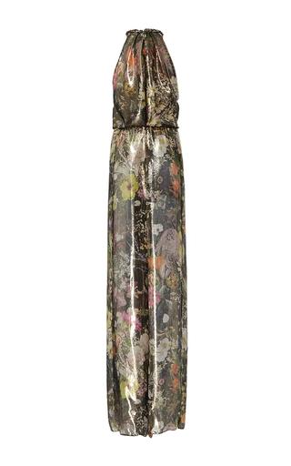 Floral Metallic Lamé Jumpsuit by MONIQUE LHUILLIER for Preorder on Moda Operandi