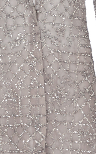 Tile Embroidered Evening Coat by MONIQUE LHUILLIER for Preorder on Moda Operandi