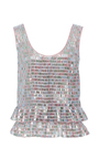 Tile Embroidered Tank Top by MONIQUE LHUILLIER for Preorder on Moda Operandi