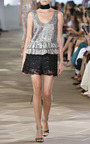 Sequin Guipure Lace Shorts by MONIQUE LHUILLIER for Preorder on Moda Operandi