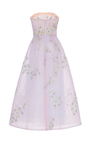 Floral Embroidered Strapless Gown by MONIQUE LHUILLIER for Preorder on Moda Operandi
