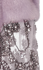 Metallic Mink Jacket With Beaded Sleeves by MONIQUE LHUILLIER for Preorder on Moda Operandi