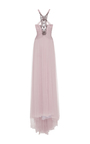 Embellished Tulle Halter Gown by MONIQUE LHUILLIER for Preorder on Moda Operandi